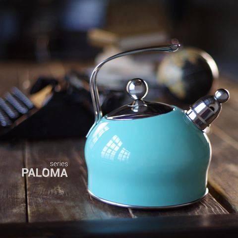 Czajnik stalowy miętowy z gwizdkiem 2,5L Fissman Paloma