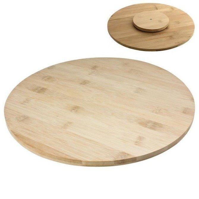 Deska obrotowa do serwowania sushi / Taca drewniana na przystawki