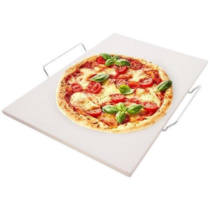 Kamień do pizzy na stojaku 44x30cm