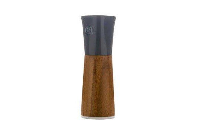Młynek do pieprzu i soli ręczny szary + drewno Gipfel