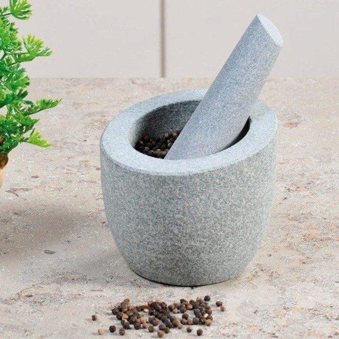 Moździerz granitowy szary Ø 12,5 cm KESPER