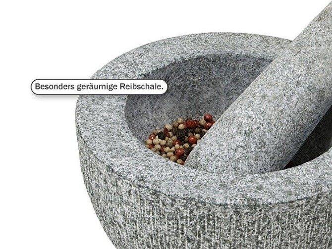 Moździerz granitowy szary Ø 18 cm KESPER