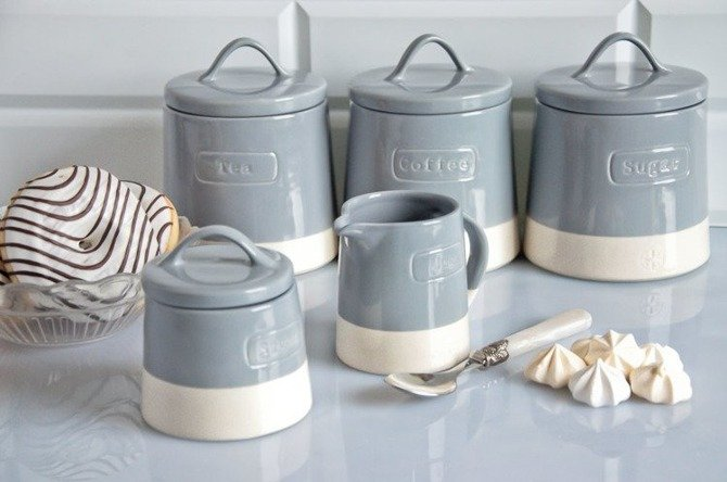 Pojemnik ceramiczny do herbaty Artisan niebieski