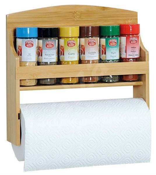 Półka na przyprawy z miejscem na ręcznik papierowy KESPER
