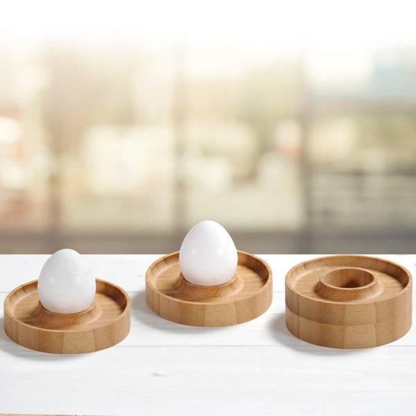 Zestaw podstawek bambusowych pod jajka Kesper 4szt